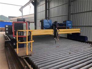 Avtomatik CNC plazma chiqib ketish mashinasi Ikkita haydash 4m span 15 m relslar