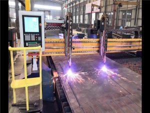 Double Drive Gantry CNC Plazma chiqib ketish mashinasi H Beam ishlab chiqarish liniyasi gipertermi CNC tizimi