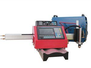 Portativ CNC plazma chiqib ketish mashinasi va po'lat iz bilan avtomatik gaz kesish mashinasi